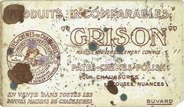 """Ancien Buvard. """"GRISON"""".  Pâtes Pour Chaussures - Shoes"""
