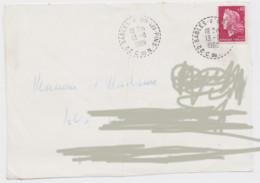 Cachet Sables D'Or Les Pins Bureau De Distribution 1969 Sur Devant De Lettre Bretagne Cotes D'Armor - 1961-....