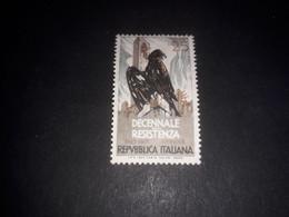 "ITAMIX2 REPUBBLICA ITALIANA 1954 10'' ANNIVERSARIO RESISTENZA I TIRATURA ""XX"" - 1946-60: Mint/hinged"