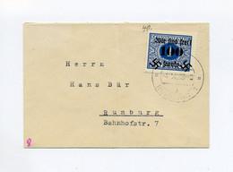 1938 Sudetenland Rumburg Brief Mit Portomarke 1 Kc Mit Überdruck 100 H Wir Sind Frei Gest. Rumburg - Sudeti
