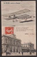 Reims - La Gare - De Reims Recevez Un Bonjour - Aéroplane - Reims