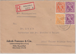 AM-Post - Köln-Sülz 6.11.45 Ortseinschreibebrief - Zona Anglo-Américan