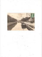 LILLE   LA HAUTE DEULE.  PENICHE DEVANT CAFE EN 1914 EDITEUR EC N° 48 - Lille