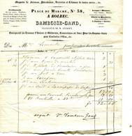Bolbec(76): Facture Maison Damboise-Gand. 1843 - 1800 – 1899