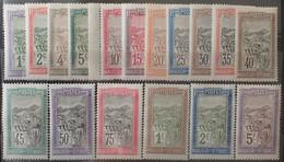 R2452/696 - 1908/1917 - COLONIES FR. - MADAGASCAR - N°94 à 110 NEUFS**(1t) BdF / NEUFS* (16t) - Unused Stamps