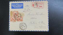 """Lettre Recommandé De Saigon Mai 1940 Par Avion  Pour Fontaine Le Dun Au Verso Griffe """"Visé Par La Douane """" - Covers & Documents"""