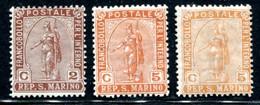San Marino - 1899 Statua Della Libertà Con Varietà Colore MNH** - Unused Stamps