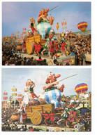ASTERIX Et OBELIX - Carnaval De NICE 1982 (2 Cartes) - Comicfiguren