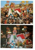 ASTERIX - Gaston LAGAFFE - Les SCHTROUMPH - TINTIN - Carnaval De NICE (2 Cartes) - Comicfiguren