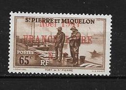 Spm37 -Saint Pierre & Miquelon N°217A Neuf Surcharge Non Garantie D'Origine CV + De 55,00 €uros - Non Classificati