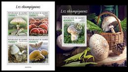 GUINEA 2021 - Mushrooms. M/S + S/S. Official Issue [GU210101] - Champignons