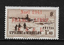 Spm49 -Saint Pierre & Miquelon N° 223A Neuf Surcharge Non Garantie D'Origine CV + De 55,00 €uros - Non Classificati