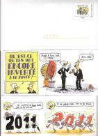 PAP SERVICE VOEUX DES POSTIERS 2011 MEILLEURS VOEUX NEUF GANZSACHE ENTIER POSTAL HORS COMMERCE BD B.D. BANDE DESSINEE - Prêts-à-poster: Other (1995-...)