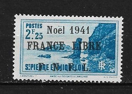 Spm58 -Saint Pierre & Miquelon N°227B Neuf Surcharge Non Garantie D'Origine CV + De 90,00 €uros - Non Classificati