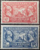 R1491/256 - 1927 - LEGION AMERICAINE - N°244 à 245 NEUFS** - Ungebraucht