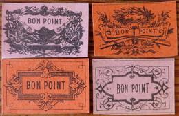 Lot De 4 (quatre) Vrais Bons-points D'école - Sin Clasificación