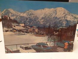 Cartolina Lago Del Cerreto Prov Reggio Emilia  Paesaggio Invernale  Auto - Reggio Emilia