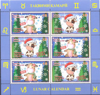 2021. Tajikistan, Lunar Calendar, Year Of The Ox, Sheetlet Perforated, Mint/** - Tayikistán