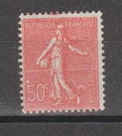 Semeuse Lignée 50c Rouge Type L N°199b - 1903-60 Semeuse Lignée