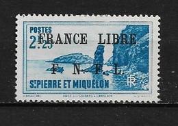 Spm88 -Saint Pierre & Miquelon N°269 Neuf Surcharge Non Garantie D'Origine CV + De 30,00 €uros - Non Classificati