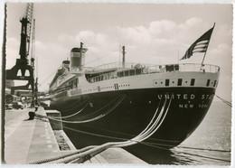 """Dampfer """"Unites States"""",am Columbuskai In Bremen, Ungelaufen - Passagiersschepen"""