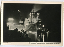 """Dampfer """"America"""",am Columbuskai In Bremen, Ungelaufen - Passagiersschepen"""