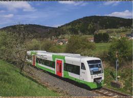 Regio Shuttle Der Süd Thüringen Bahn STB,bei Mengersgereuth-Hämmern Ost, Ungelaufen - Trenes