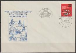 DDR FDC 1957 Nr.595 Weltgewrkschaftskongress, Leipzig (d 2958 ) Günstige Versandkosten - FDC: Covers