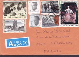 Belgium A PRIOR Par Avion Label SPA 19?? Mult. Franked Cover Brief FLORENSAC France Red Cross Croix Rouge Rotes Kreuz - Storia Postale