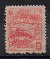 NICARAGUA - 1896 - 2ç - OFFICIAL STAMP - TIMBRE DE SERVICE - - Nicaragua