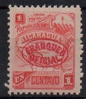 NICARAGUA - 1896 - 1ç - OFFICIAL STAMP - TIMBRE DE SERVICE - - Nicaragua