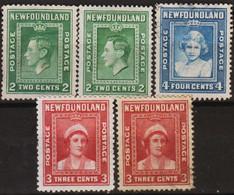 Canada 1938 Regno Di George VI MiN°232 Lot 5v M(*) No Gum Vedere Scansione - Sin Clasificación