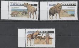 Namibia 2016  Animals Predators  Hyaenas 3v  MNH** - Namibia (1990- ...)