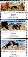 Namibia 2016  Animals Horses 3v  MNH** - Namibia (1990- ...)