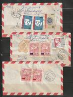 Peru 1975/77 Six Airmail Covers To Macau - Perù