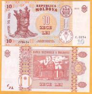 """2017 2015 Moldova ; Moldavie ; Moldau  """"10 LEI  2015""""  UNC - Moldova"""