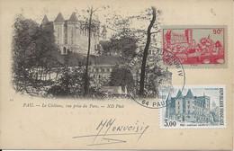 France Carte Max 1er Jour YT 449, 2195 Château Henri IV Pau 15/05/82 Signature Graveur Monvoisin - 1980-1989