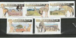 NAMIBIA 2017 MiNr. 1580 - 1584 Animals SMALL CANINES Dogs Birds 5v  MNH** 14,00 € - Namibia (1990- ...)
