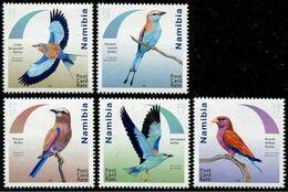 NAMIBIA 2017 MiNr. 1575 - 1579   Birds Rollers 5v  MNH** 11,00 € - Namibia (1990- ...)