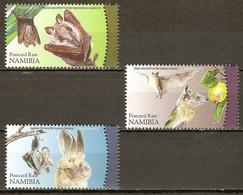NAMIBIA 2012 MiNr. 1408 - 1410 Animals Animaux Tiere BATS 3v  MNH** 5,00 € - Namibia (1990- ...)