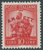 1948 TRIESTE A CONVEGNO FILATELICO 10 LIRE MNH ** - RE15-10 - Mint/hinged