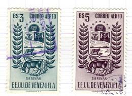 YV+ Venezuela 1953 Mi 1041-42 Barinas - Venezuela