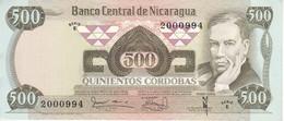 BILLETE DE NICARAGUA DE 500 CORDOBAS DEL AÑO 1979 SIN CIRCULAR (UNCIRCULATED)  (BANK NOTE) POLIMERO - Nicaragua