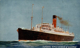 CUNARD RMS IVERNIA SAXONIA - Steamers