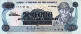 BILLETE DE NICARAGUA DE 500000 CORDOBAS DEL AÑO 1990 SIN CIRCULAR (UNCIRCULATED)  (BANK NOTE) POLIMERO - Nicaragua