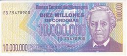 BILLETE DE NICARAGUA DE 10000000 CORDOBAS DEL AÑO 1990 SIN CIRCULAR (UNCIRCULATED)  (BANK NOTE) POLIMERO - Nicaragua
