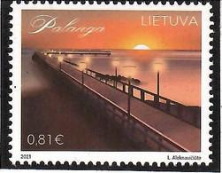 Lithuania 2021 .Lithuanian Resorts. Palanga Bridge (Sea). 1v:0.81 - Lituanie