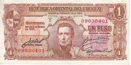 BILLETE DE URUGUAY DE 1 PESO DEL AÑO 1939 CALIDAD EBC (XF) (BANKNOTE) - Uruguay