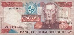 BILLETE DE URUGUAY DE 5000 PESOS DEL AÑO 1983 (BANKNOTE) - Uruguay
