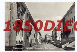 VALMONTONE - VILLAGGIO RINASCITA - VIA CAVOUR  F/GRANDE VIAGGIATA 1959 ANIMAZIONE - Non Classés